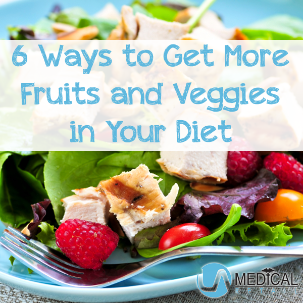 Tips for getting more fruits & veggies