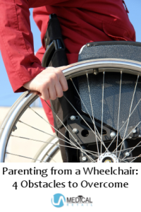 Use tips here to make parenting from a wheelchair easier.