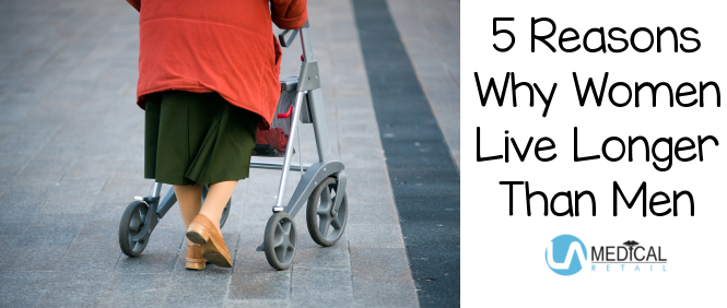 There are a number of reasons why women typically live longer than men. Find out why!